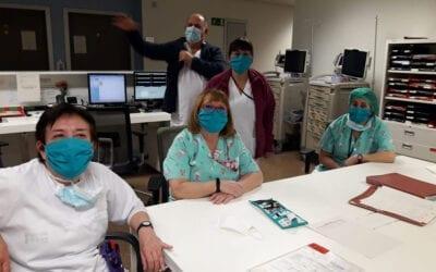 Voluntàries d'Albal confeccionen 1500 màscares
