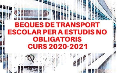 El Ayuntamiento de Albal convoca las ayudas de transporte para el curso académico de 2020-2021