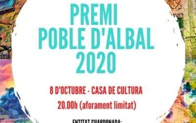 Premi Poble d'Albal 2020 a l'Associació 'Amics de Fontilles'