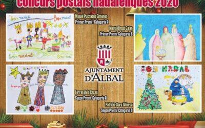 Miguel Puchades Giménez i María Olmos Galán: Primer Premio del Concurso de dibujo de Postales de Nadal 2020