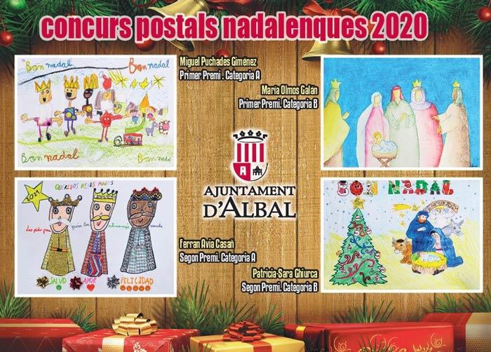 Miguel Puchades Giménez i María Olmos Galán: Primer Premi al Concurs de dibuix de Postals de Nadal 2020