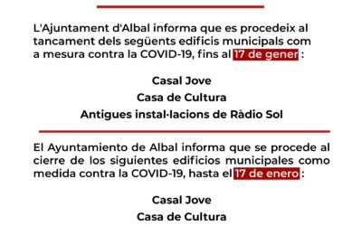 Noves mesures addicionals per la COVID-19