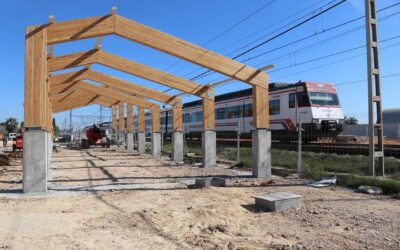 Comienza la construcción de las cubiertas de los edificios de pasajeros de la estación de tren de Albal