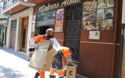 El Ayuntamiento recoge más de 7.000 kg de cartón y papel, en menos de tres meses