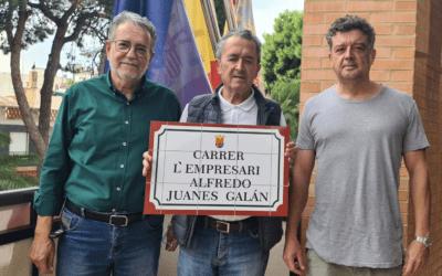 La calle perpendicular a la estación de tren tendrá por nombre a un pionero en la industria tapicera, Alfredo Juanes Galán
